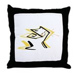 Leo - Stylized Zodiac Symbol Cat Throw Pillow
