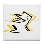 Leo - Stylized Zodiac Symbol Cat Tile Coaster