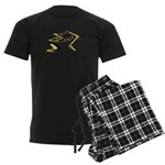 Leo - Stylized Zodiac Symbol Cat Men's Dark Pajama