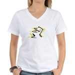 Leo - Stylized Zodiac Symbol Cat Women's V-Neck T-