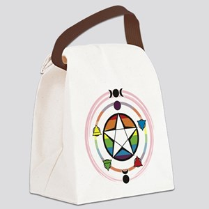 LGBT Elemental Pentagram Canvas Lunch Bag