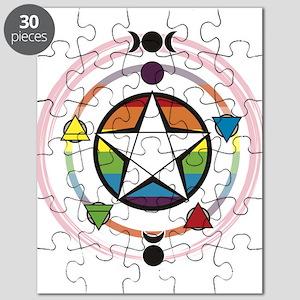 LGBT Elemental Pentagram Puzzle