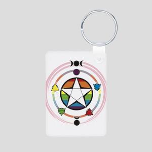 LGBT Elemental Pentagram Aluminum Photo Keychain