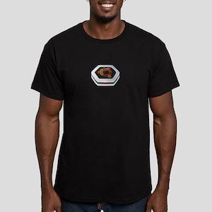 ubuntu logo Men's Fitted T-Shirt (dark)
