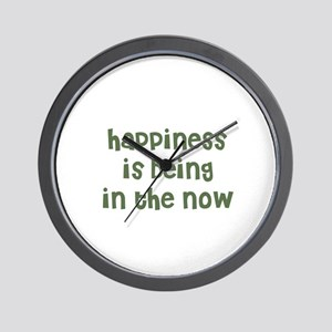 happiness is being in the now Wall Clock