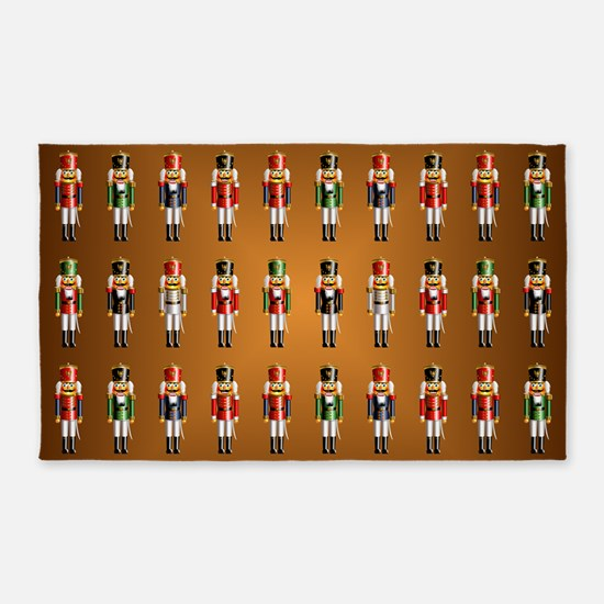 Nutty Nutcracker Toy Soldiers Area Rug