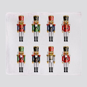 Nutty Nutcracker Toy Soldiers Throw Blanket