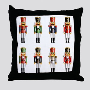 Nutty Nutcracker Toy Soldiers Throw Pillow