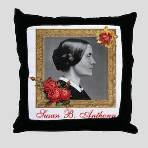 Susan B. Anthony Throw Pillow