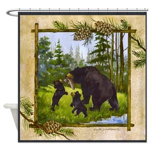 Brown Bear Shower Curtains