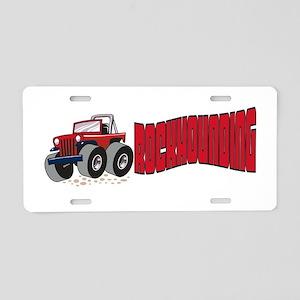Rockhounding Aluminum License Plate