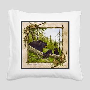 Best Seller Bear Square Canvas Pillow