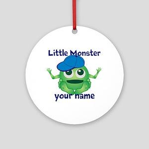 Little Monster Boy Ornament (Round)