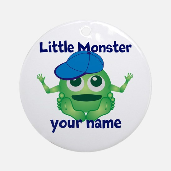 Little Monster Boy Ornament (Round)