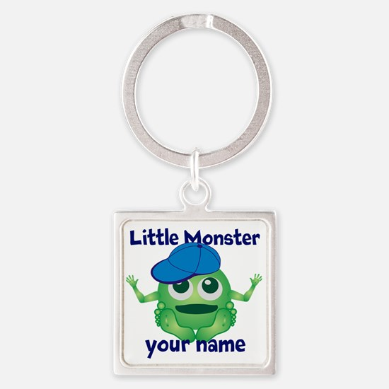 Little Monster Boy Square Keychain