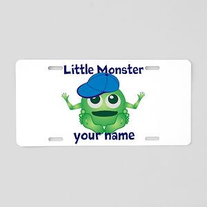 Little Monster Boy Aluminum License Plate