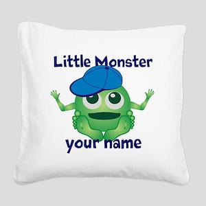 Little Monster Boy Square Canvas Pillow