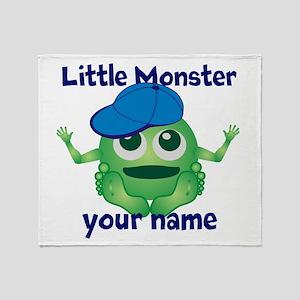 Little Monster Boy Throw Blanket