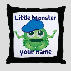 Little Monster Boy Throw Pillow