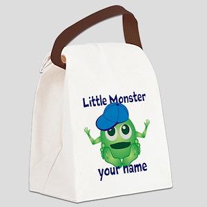 Little Monster Boy Canvas Lunch Bag