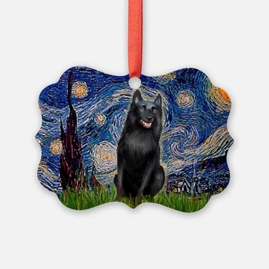Unique Schipperke art Ornament