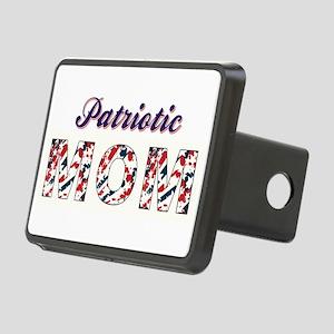PATRIOTIC MOM Rectangular Hitch Cover