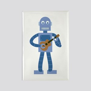 Ukulele Robot Rectangle Magnet