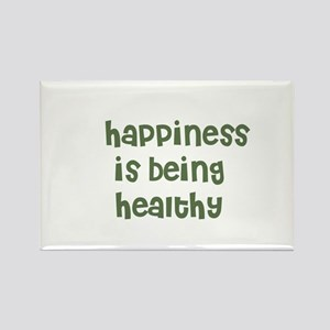 happiness is being healthy Rectangle Magnet
