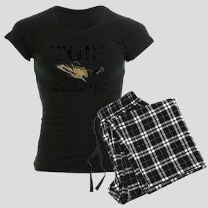 TGIF Fishing Women's Dark Pajamas