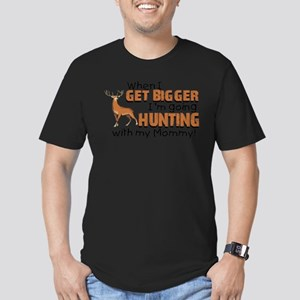 Hunting With Mommy Men's Fitted T-Shirt (dark)