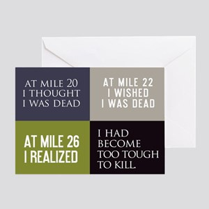 At Mile 20 Greeting Card