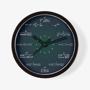 Math Clock (Dark Blue-Dark Green) Wall Clock