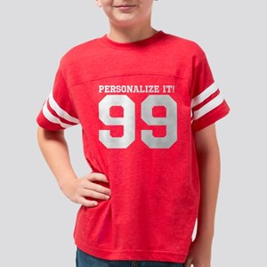 PERSONALIZED Sporty Number Youth Football Shirt