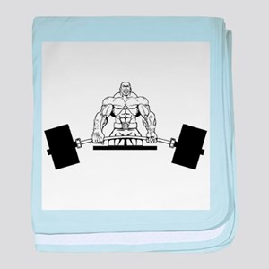 Workout Beast baby blanket