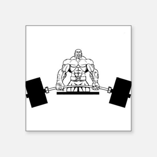 "Workout Beast Square Sticker 3"" x 3"""
