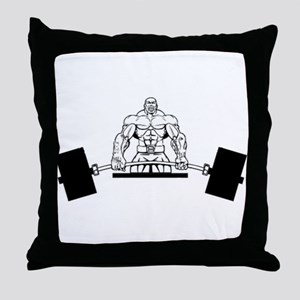 Workout Beast Throw Pillow