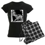 Borzoi and Unicorn Women's Dark Pajamas