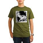 Borzoi and Unicorn Organic Men's T-Shirt (dark)