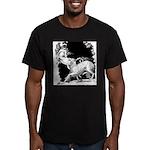 Borzoi and Unicorn Men's Fitted T-Shirt (dark)