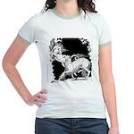 Borzoi and Unicorn Jr. Ringer T-Shirt