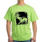 Borzoi and Unicorn Green T-Shirt