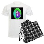 UnicornHeadStudyOval Men's Light Pajamas
