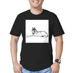 Resting Wolf<br> Men's Fitted T-Shirt (dark)
