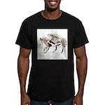 PHGAndMtnsSepia2800x Men's Fitted T-Shirt (dar