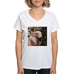 tersai-head-oil.210... Women's V-Neck T-Shirt