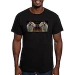 TwoKintaroHeads4cups Men's Fitted T-Shirt (dar