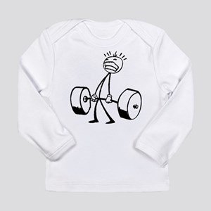 Never Quit: Workout Logo Long Sleeve Infant T-Shir