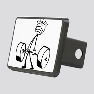 Never Quit: Workout Logo Rectangular Hitch Cover