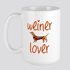 WEINER LOVER Large Mug