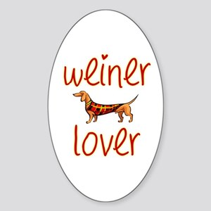 WEINER LOVER Oval Sticker